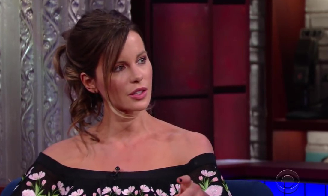 Stephen Colbert: Kate Beckinsale Travels With A Horse Costume