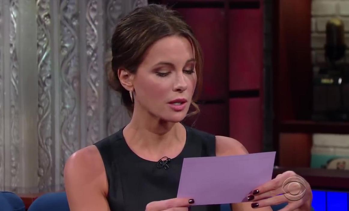Stephen Colbert: Kate Beckinsale Teaches Stephen To Speak Russian