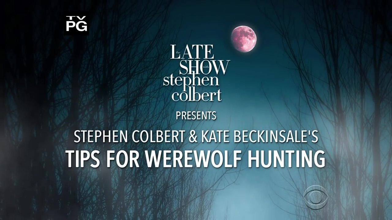 Stephen Colbert and Kate Beckinsale's Tips For Werewolf Hunting
